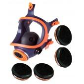 Maska pełnotwarzowa lakiernicza Climax 732-S + 4 pochłaniacze A1
