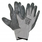 Rękawice poliestrowe powlekane nitrylem JM GLOVES 120 (rteni)