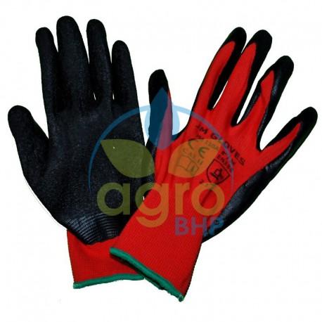 Rękawice JM110A wykonane z poliestru powlekane lateksem