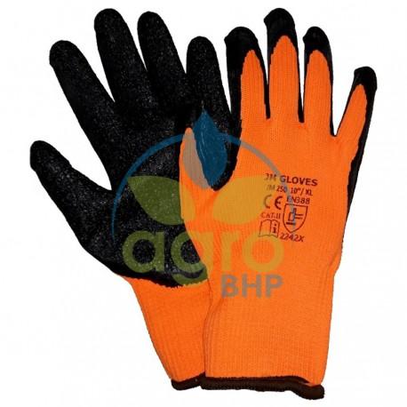 Rękawice JM250 ochronne zimowe ocieplane powlekane lateksem