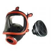 Maska pełnotwarzowa gumowa 731-R + pochłaniacz P3