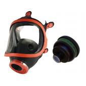 Maska pełnotwarzowa gumowa 731-R + pochłaniacz K2
